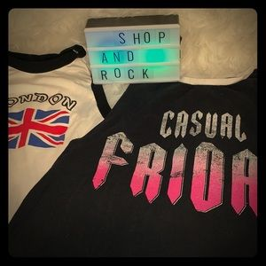 Forever 21 Bundle of Cropped Sleeveles Tees